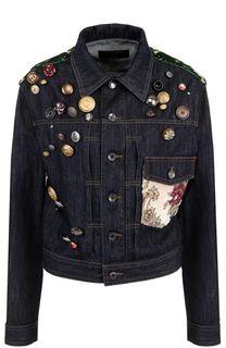 Джинсовая куртка прямого кроя с декоративной отделкой Dolce & Gabbana
