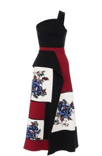 Приталенное платье-миди с открытым плечом Roland Mouret