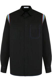 Хлопковая рубашка с контрастной отделкой J.W. Anderson
