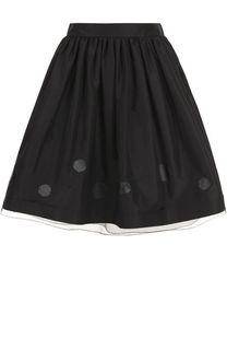 Пышная мини-юбка с широким поясом Ralph Lauren