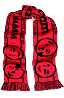 Вязаный шарф с принтом и бахромой Vetements