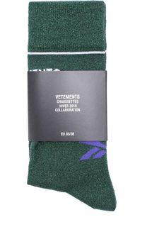 Однотонные носки с логотипом бренда Vetements