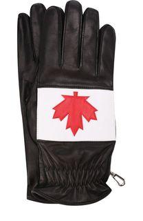 Кожаные перчатки с кашемировой подкладкой Dsquared2