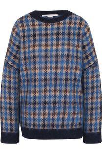 Шерстяной пуловер свободного кроя с принтом Stella McCartney
