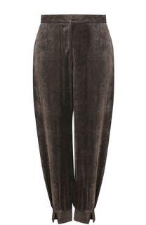 Укороченные бархатные брюки с карманами Stella McCartney