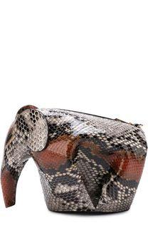 Сумка Elephant из кожи питона Loewe