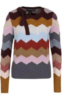 Кашемировый пуловер с принтом и бантом Marc Jacobs