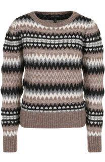 Шерстяной пуловер с принтом Marc Jacobs