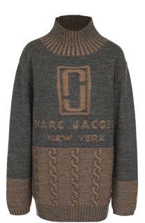 Шерстяной свитер с логотипом бренда Marc Jacobs