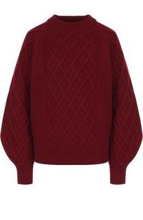 Шерстяной пуловер фактурной вязки Victoria Beckham