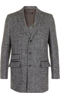 Однобортное пальто из смеси шерсти и кашемира Loro Piana
