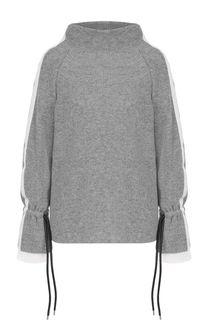Шерстяной свитер с контрастной отделкой Sacai