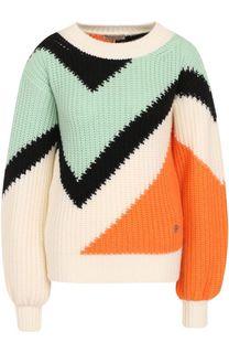 Кашемировый пуловер фактурной вязки Emilio Pucci