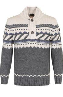 Шерстяной свитер с воротником на пуговицах Paul&Shark Paul&Shark