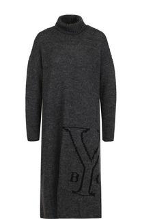 Шерстяное платье свободного кроя Yohji Yamamoto