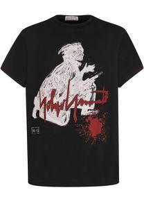 Хлопковая футболка с принтом Yohji Yamamoto