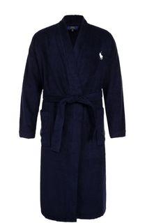 Хлопковый халат с поясом и шалевым воротником Ralph Lauren