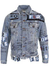 Джинсовая куртка на пуговицах с отделкой Faith Connexion