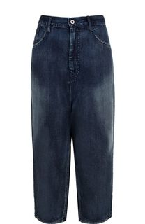 Укороченные джинсы с потертостями Yohji Yamamoto
