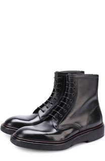 Высокие кожаные ботинки на шнуровке Premiata