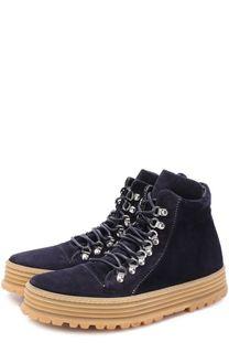 Высокие замшевые ботинки на шнуровке Premiata