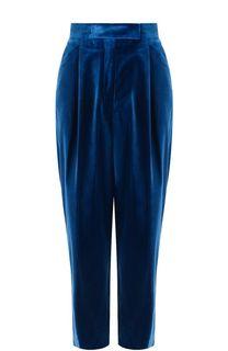 Укороченные бархатные брюки с защипами Dries Van Noten