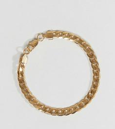 Браслет-цепочка с крупными звеньями Reclaimed Vintage Inspired - Золотой