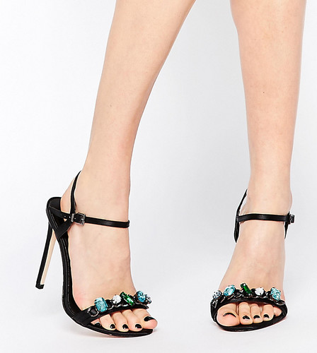 Сандалии на каблуке для широкой стопы ASOS HYDROGEN - Черный