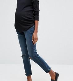 Джинсы бойфренда для беременных с эластичным поясом ASOS Maternity Kimmi - Синий