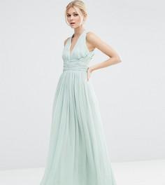 Платье макси ASOS PETITE WEDDING Hollywood - Синий