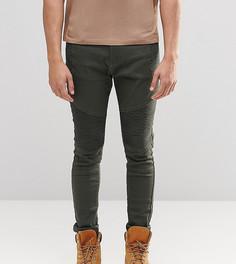 Зауженные байкерские джинсы цвета хаки Liquor N Poker - Зеленый