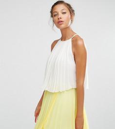 Многослойное платье мини в стиле колор блок ASOS TALL - Мульти