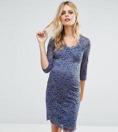 Кружевное платье для беременных Mamalicious - Синий Mama.Licious
