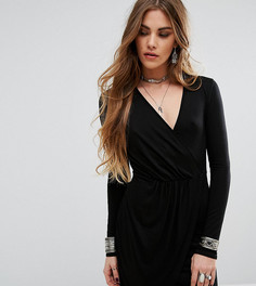 Облегающее платье с запахом спереди Rokoko - Черный