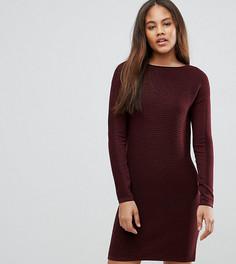 Фактурное платье-джемпер ASOS TALL - Красный
