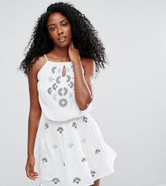 Пляжное платье с вышивкой Akasa - Белый