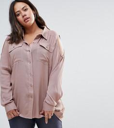 Рубашка с вырезами на плечах Alice & You - Фиолетовый