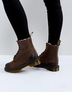 Ботинки с 8 парами люверсов Dr Martens Serena - Коричневый
