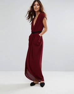 Драпированное платье-тюльпан макси Y.A.S Macy - Красный
