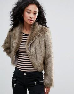 Куртка из искусственного меха Urban Bliss - Кремовый