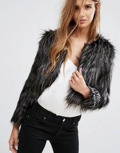 Куртка из искусственного меха Urban Bliss - Черный