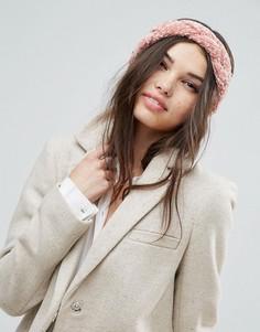 Плетеная повязка на голову ASOS - Розовый