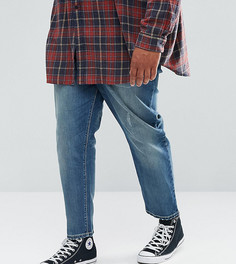 Синие зауженные джинсы ASOS PLUS - Синий