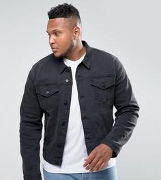 Черная выбеленная джинсовая куртка ASOS PLUS - Черный