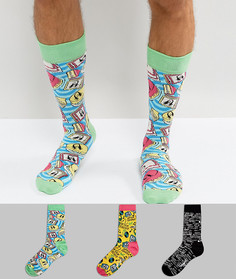 Подарочный набор из 3 пар носков Happy Socks Steve Aoki - Мульти