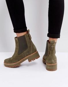 Ботинки челси оливкового цвета Timberland Courmayeur Valley - Зеленый