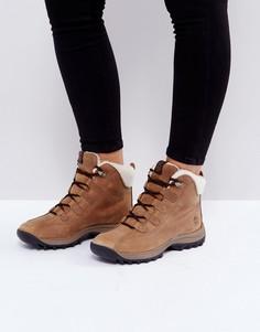 Светло-коричневые непромокаемые ботинки с подкладкой из искусственной овечьей шерсти Timberland Canard Resort - Рыжий