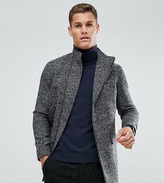 Пальто с асимметричным воротником-стойкой Noak - Черный
