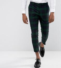 Суженные книзу брюки из английской ткани Heart & Dagger - Зеленый