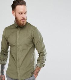 Приталенная вельветовая рубашка Heart & Dagger - Зеленый